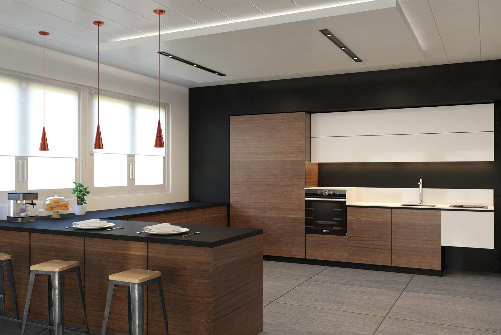 Cucine moderne con rivestimenti personalizzati replace - Rivestimenti cucina moderna ...