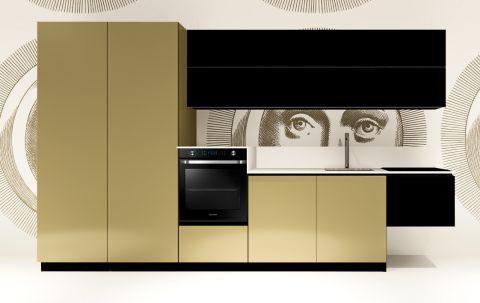 Cucina Replace Design Black Goldy