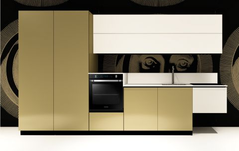 Cucina Replace Design White Goldy
