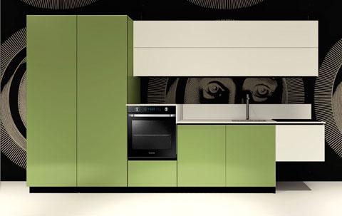 Cucina Replace Design White Green